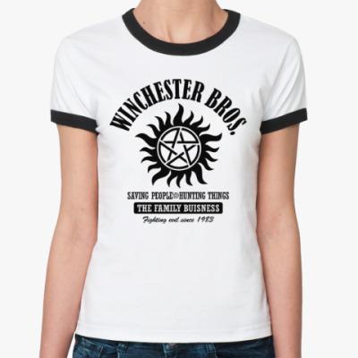 Женская футболка Ringer-T Winchester Brothers
