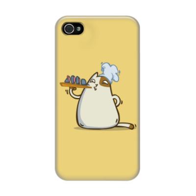 Чехол для iPhone 4/4s Пятничный Котик №25