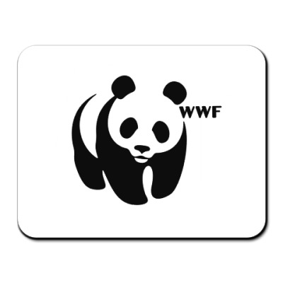 Коврик для мыши WWF. Панда с лого