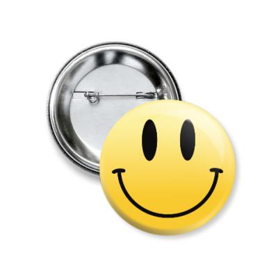 Значок 37мм Smile
