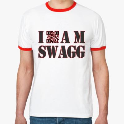 Футболка Ringer-T I AM SWAGG