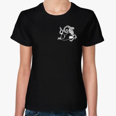 Женская футболка Скифский козерог