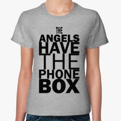 Женская футболка The Angels have the phone box