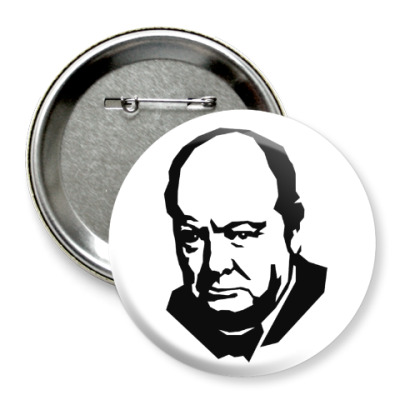 Значок 75мм Черчилль