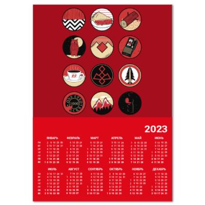 Календарь Сериал Твин Пикс Twin Peaks