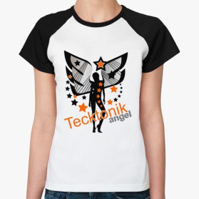 Женская футболка реглан Тектоник