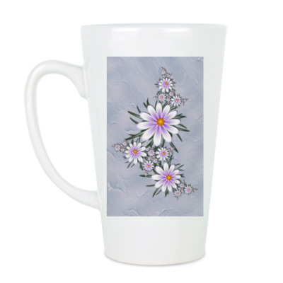 Чашка Латте Нежные цветы