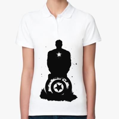Женская рубашка поло Captain America