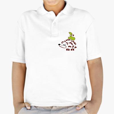 Детская рубашка поло Ежик с яблоком