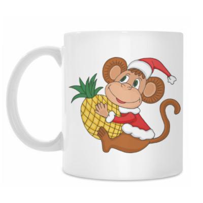 Кружка Новогодняя обезьянка