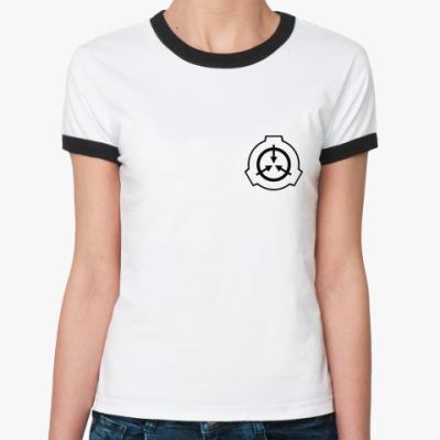 Женская футболка Ringer-T SCP Foundation