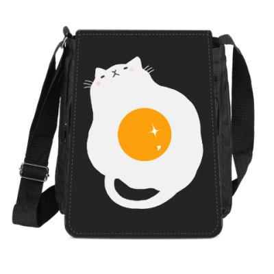 Сумка-планшет Кот-яичница