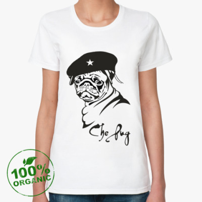 Женская футболка из органик-хлопка CHE PUG