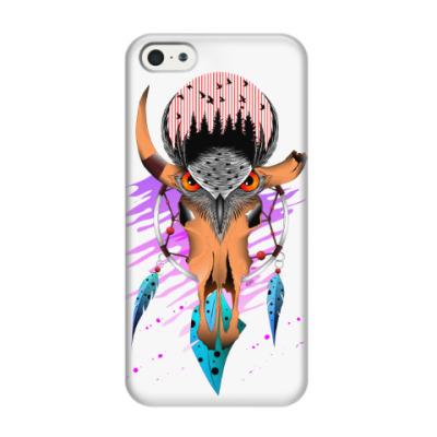 Чехол для iPhone 5/5s сова ловец снов