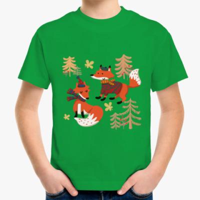 Детская футболка Осенние лисы