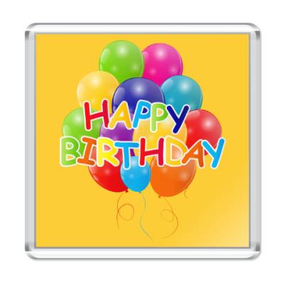 Магнит Happy Birthday