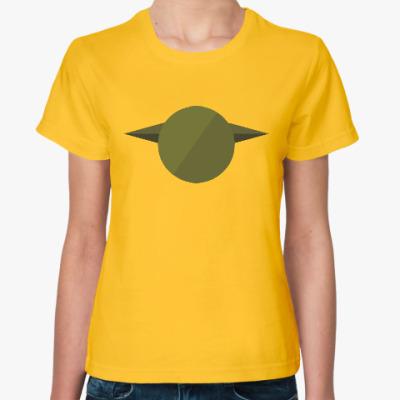 Женская футболка Магистр Йода (Yoda) минимализм