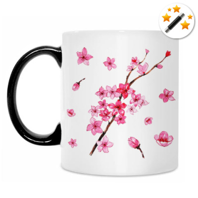 Кружка-хамелеон Цветы вишни