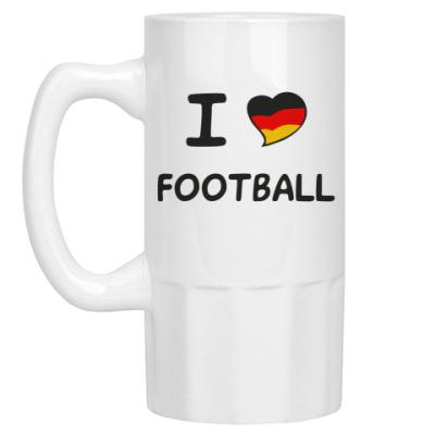 Пивная кружка Я люблю немецкий футбол