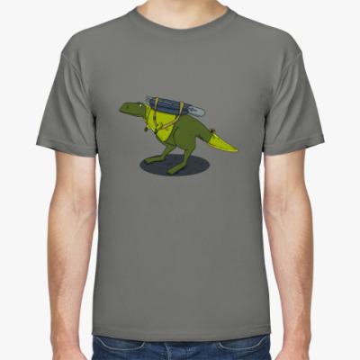 Футболка Тираннозавр-путешественник