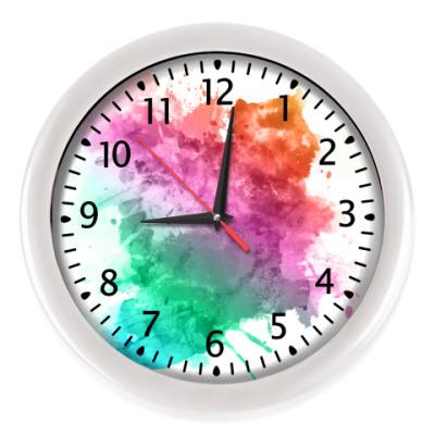 Настенные часы Акварель