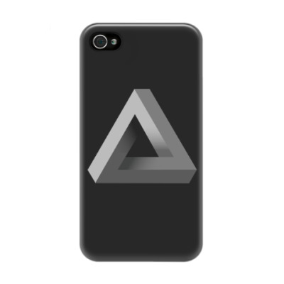 Чехол для iPhone 4/4s Невозможный Треугольник 3D