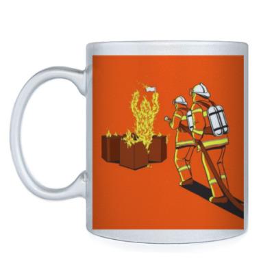 Кружка 'Огонь бессилен против пожарных'