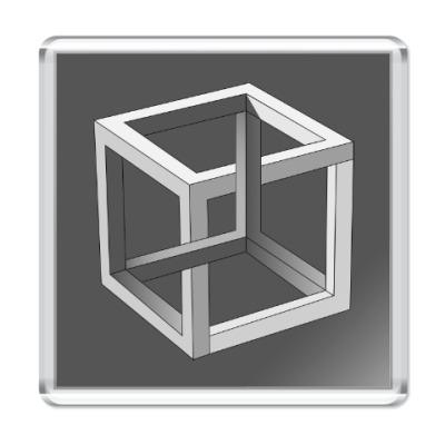 Магнит Невозможный Куб 3D