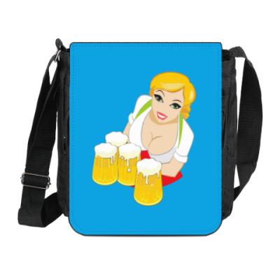 Сумка на плечо (мини-планшет) Девушка с бокалами