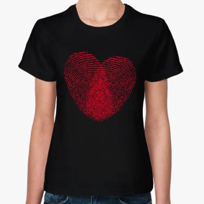 Женская футболка Отпечатки Любви