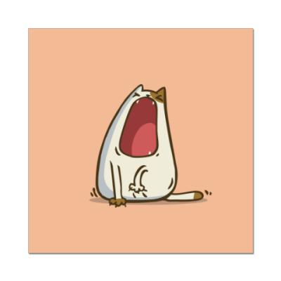 Наклейка (стикер) Зевокот — Пятничный Котик №28