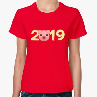 Женская футболка PIGGY 2019