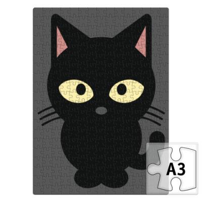 Пазл Черный Котик