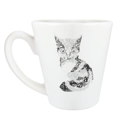 Чашка Латте  'котик'