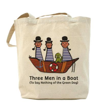 Сумка Холщовая сумка Трое в лодке