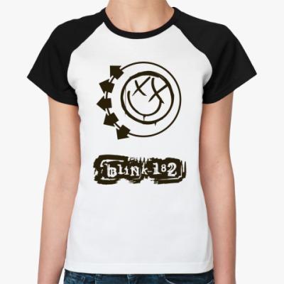 Женская футболка реглан  Blink 182