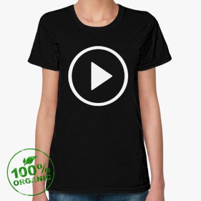 Женская футболка из органик-хлопка Кнопка Play