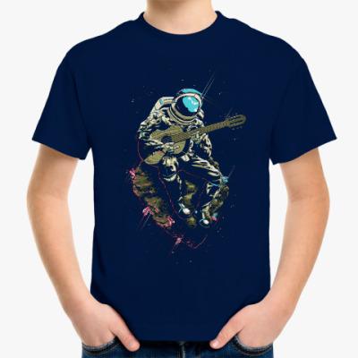 Детская футболка Космонавт с гитарой