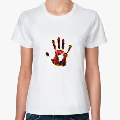 Классическая футболка След руки