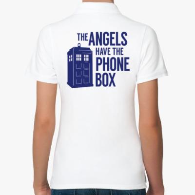 Женская рубашка поло The Angels Have The Phone Box