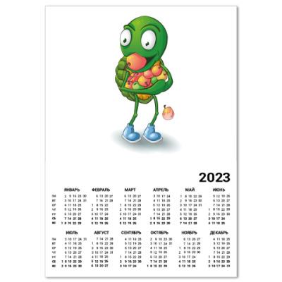 Календарь Добрый Черепашонок с яблоками