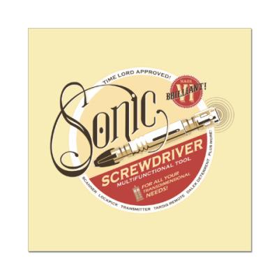 Наклейка (стикер) Sonic Screwdriver