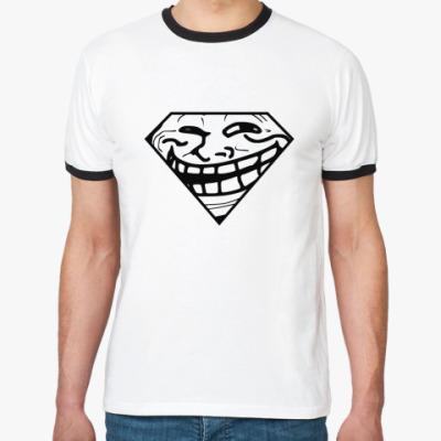 Футболка Ringer-T Trollface & Superman