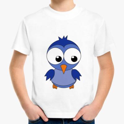 Детская футболка Синяя птичка