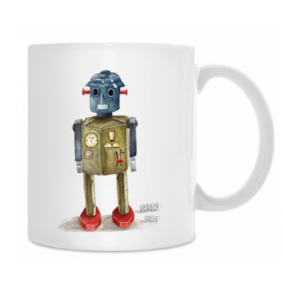 Винтажные игрушечные роботы
