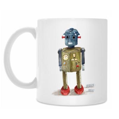 Кружка Винтажные игрушечные роботы