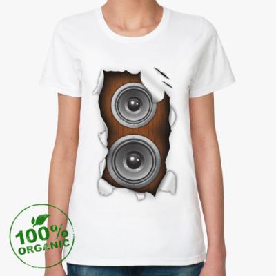 Женская футболка из органик-хлопка Динамики