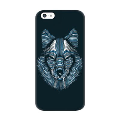 Чехол для iPhone 5c Волк