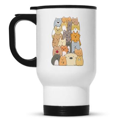 Кружка-термос Смешные коты (funny cats)