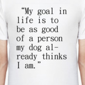 goal in life Goal achieving is something that you absolutely must do if you wish to fulfill your potential as human being goals enable you to do the work you want to do, to live where you want to live, to be with the people you enjoy, and to become the kind of person you want to be people don't set goals.